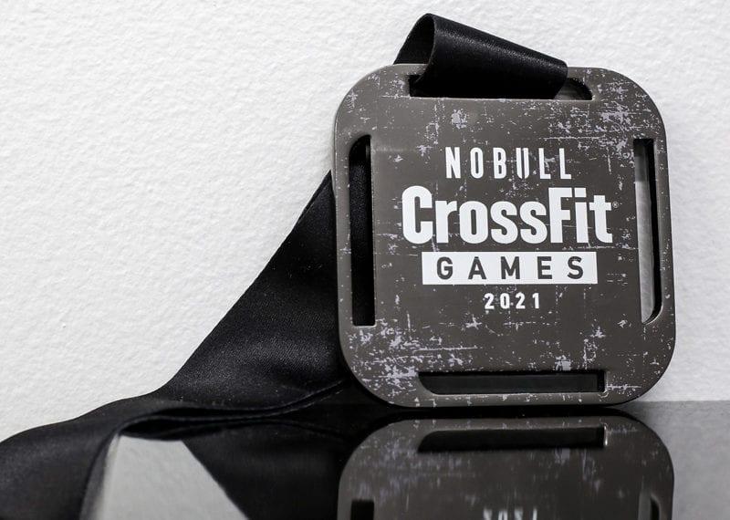 Metal Screen Print Medallion With Ribbon CrossFit Games